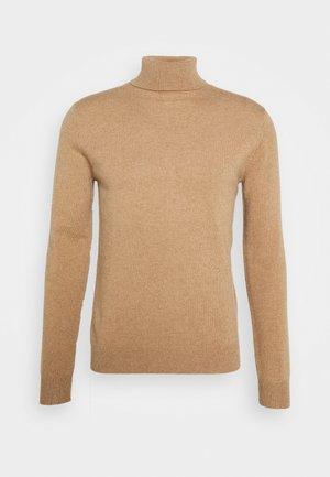 TURTLENECK - Stickad tröja - dark beige