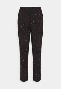 Vero Moda - VMMORGAN PANT - Pantaloni - black/white - 6