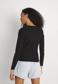 ONLY - ONLNELLA O NECK - Long sleeved top - black - 2