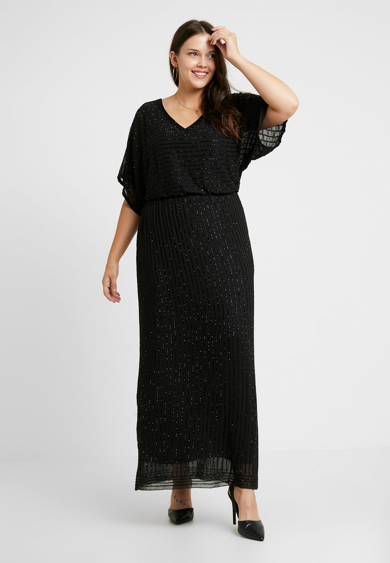 Lace & Beads Curvy - MAXI - Occasion wear - black
