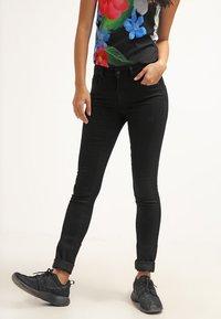 ONLY - Slim fit jeans - black denim - 0