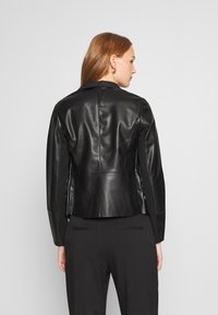 Dorothy Perkins - WATERFALL JACKET - Faux leather jacket - black - 2