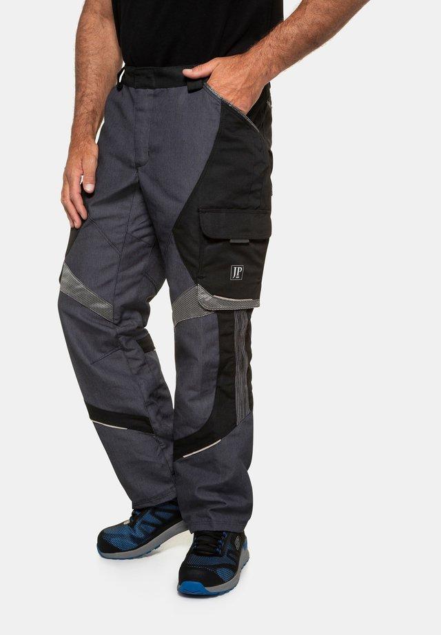 WORKWEAR - Cargobyxor - grau-schwarz