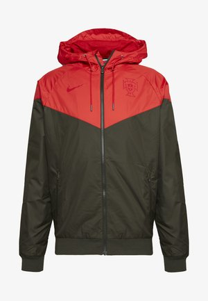 PORTUGAL FPF - Training jacket - sequoia/sport red/gym red
