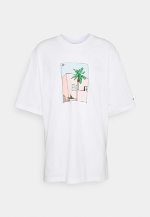 HAND DRAWN TEE - Printtipaita - white