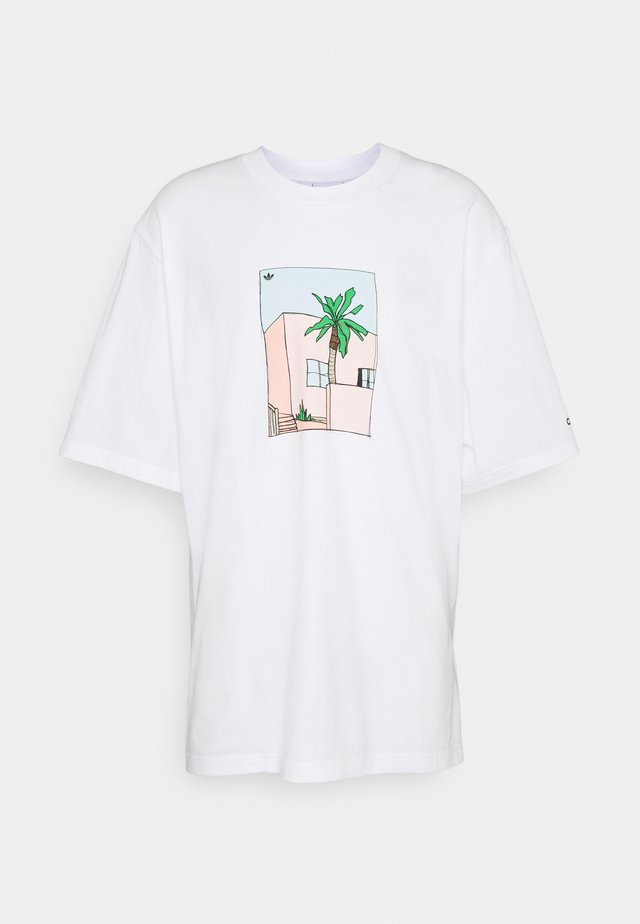 HAND DRAWN TEE - T-Shirt print - white