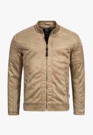 MONTES - Faux leather jacket - beige
