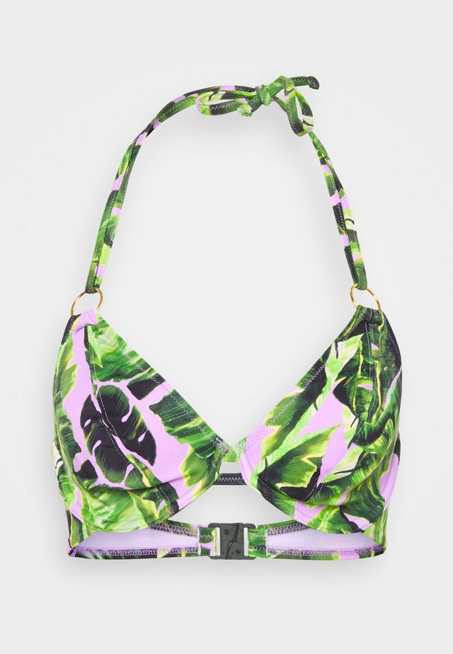 JUNGLE HALTER - Bikinitop - cassis