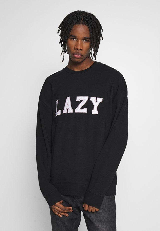 UNISEX LAZY CREW - Collegepaita - black