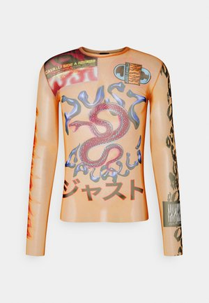 Long sleeved top - natural/pink