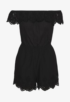 BARDOT EMBROIDERED PLAYSUIT - Beach accessory - black