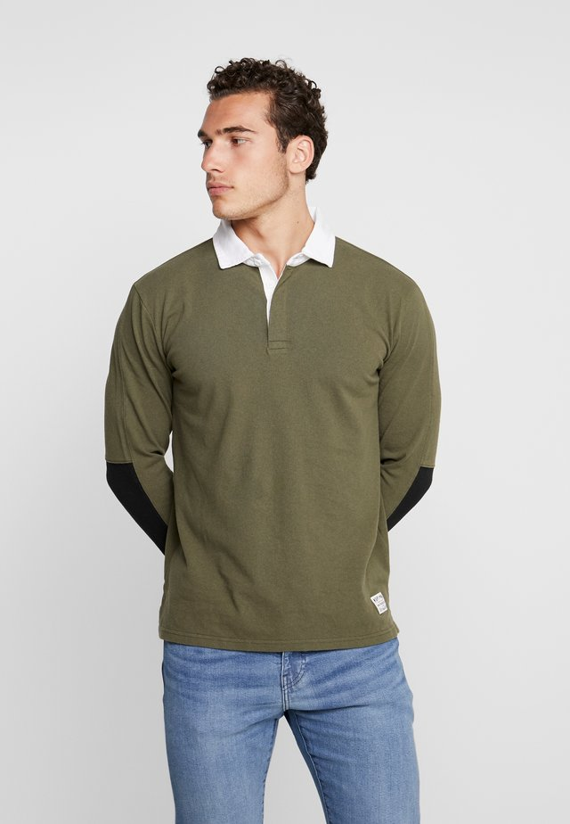 MIGHTY MADE RUGBY  - Polo - olive night/ black/natural