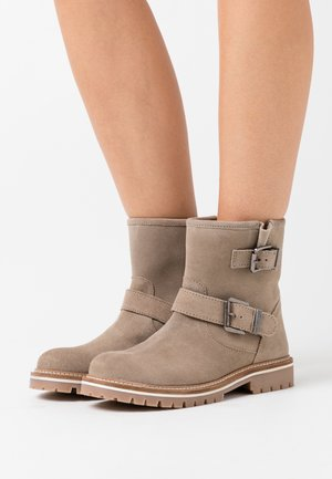 LEONIE - Cowboy/biker ankle boot - taupe