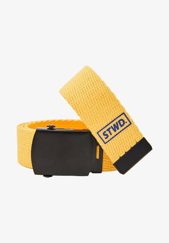 Pletený pásek - yellow