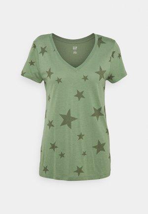 T-shirt imprimé - olive stars