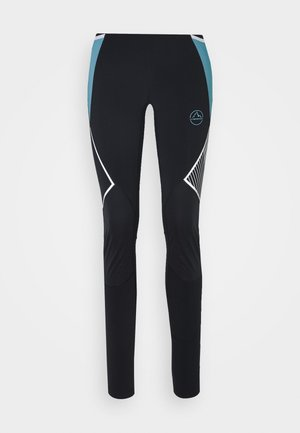 PIRR PANT  - Leggings - black/pacific blue