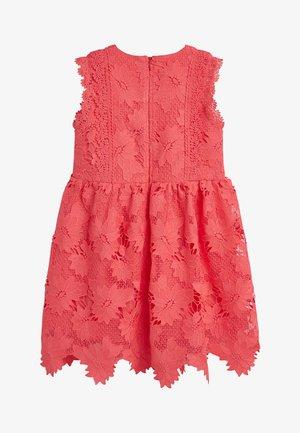 COBALT BLUE LACE DRESS  - Day dress - pink