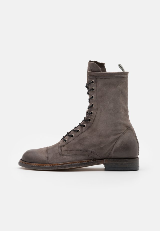 Lace-up ankle boots - smoke