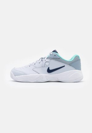 COURT LITE 2 CLAY - Tenisové boty na antuku - football grey/midnight navy