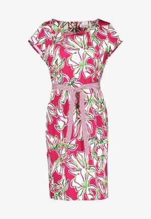 Korte jurk - azalea weiß palm druck