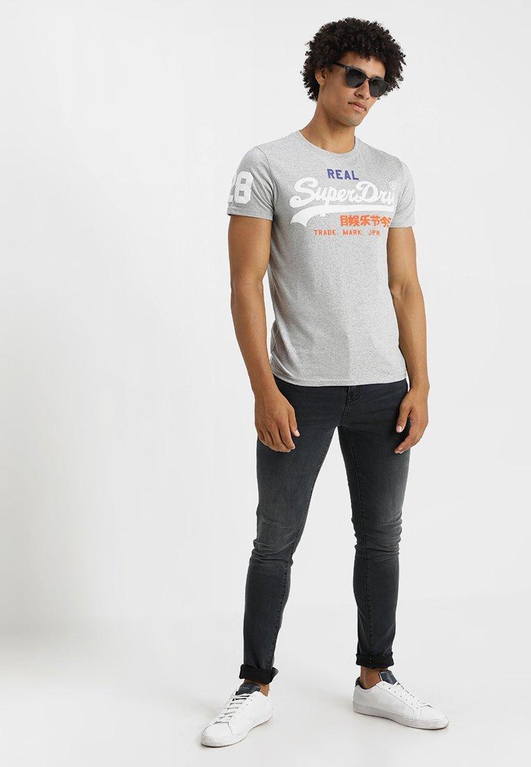 Superdry Vintage Logo Tri Tee - T-shirts Med Print Montana Grey Grit/grå-melert