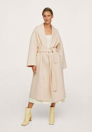 MAXI-CEINTURE - Classic coat - écru