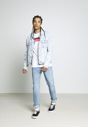JCOBOOSTER TEE 3 PACK - T-Shirt print - white/navy/light grey melange