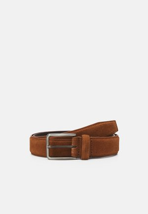 LEATHER UNISEX - Belt - cognac
