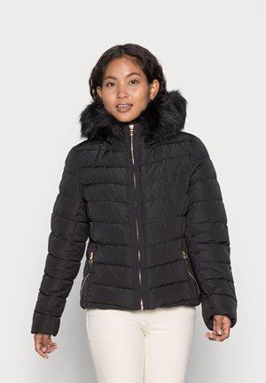 ONLNEWELLAN QUILTED HOOD - Winter jacket - black