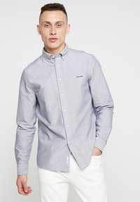 Calvin Klein - BUTTON DOWN OXFORD LOGO - Shirt - blue - 0