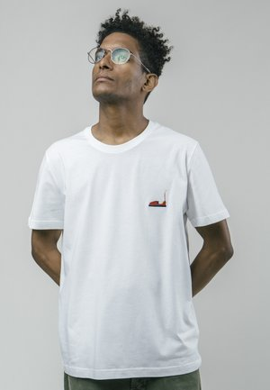 AUTOSCOOTER - Print T-shirt - white