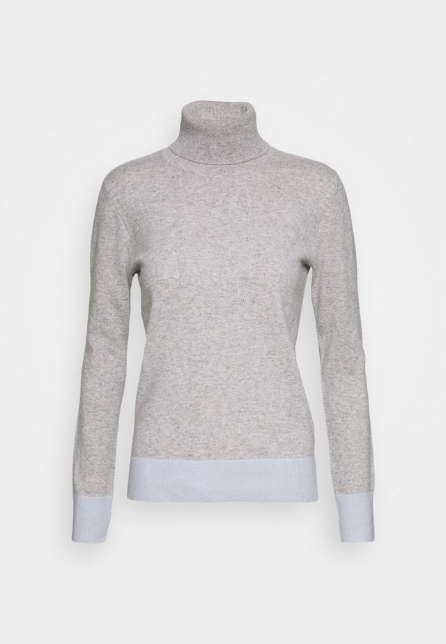TURTLENECK COLOR BLOCK - Trui - light grey/baby blue