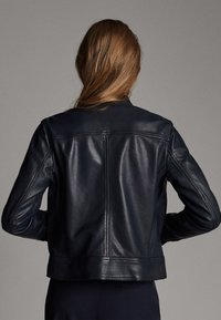 Massimo Dutti - Leather jacket - dark blue - 2