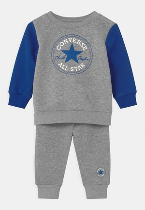 COLORBLOCK SET - Tracksuit - dark grey heather