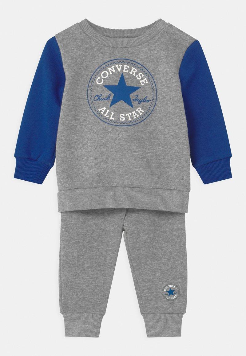 Converse - COLORBLOCK SET - Tepláková souprava - dark grey heather