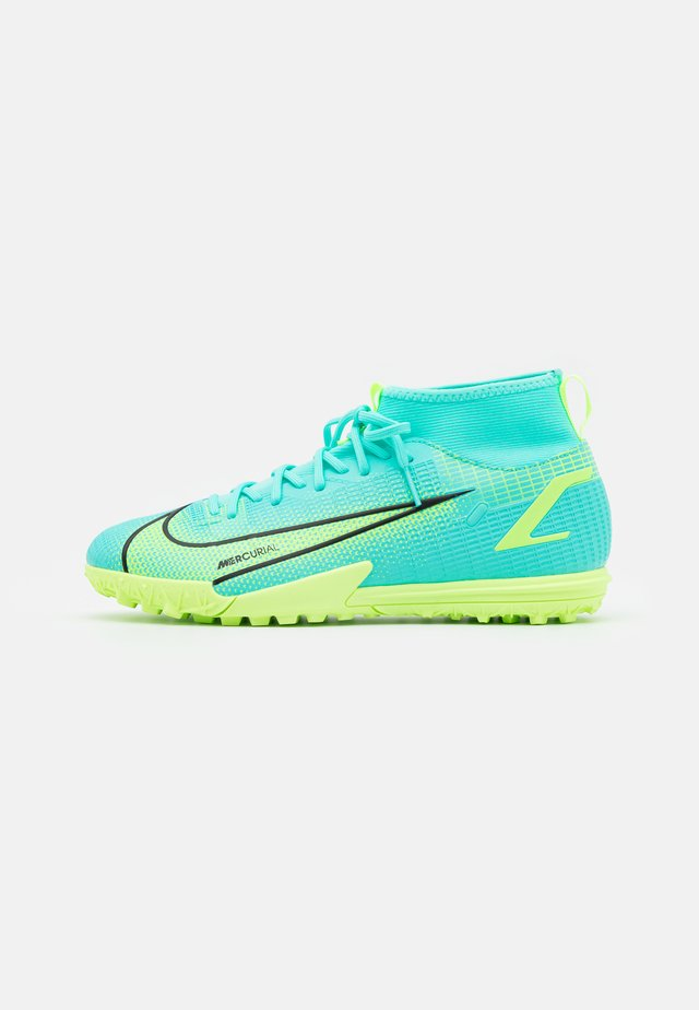 MERCURIAL 8 ACADEMY TF UNISEX - Chaussures de foot multicrampons - dynamic turq/lime glow