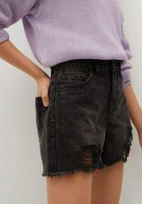 Mango - HELEN - Jeans Short / cowboy shorts - black denim - 2