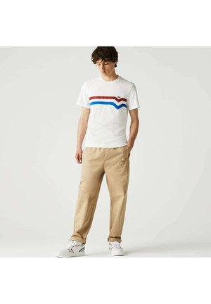 Print T-shirt - blanc/rouge/bleu