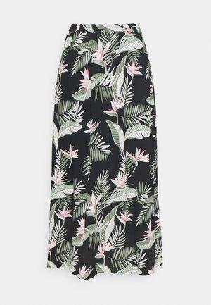 VMSIMPLY EASY SKIRT - Maxi skirt - black