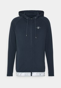 SIKSILK - SCOPE TAPE ZIP THROUGH HOODIE - Felpa aperta - navy - 3