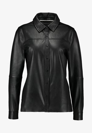 OBJKASANDRA - Button-down blouse - black