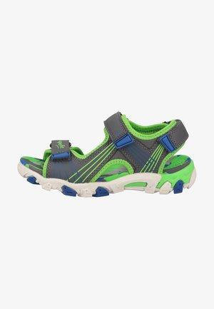 Walking sandals - hellgrau/grün