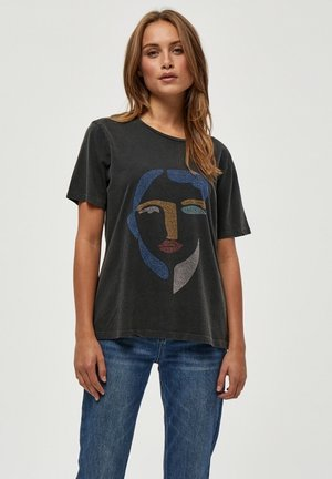 JORIE  - Print T-shirt - black