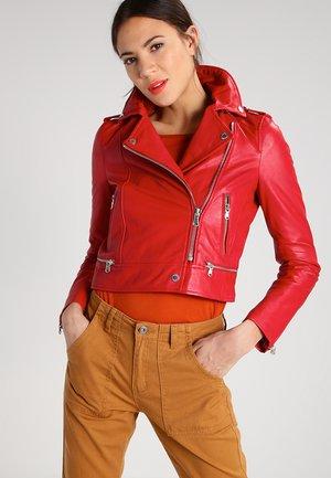 YOKO - Leather jacket - red