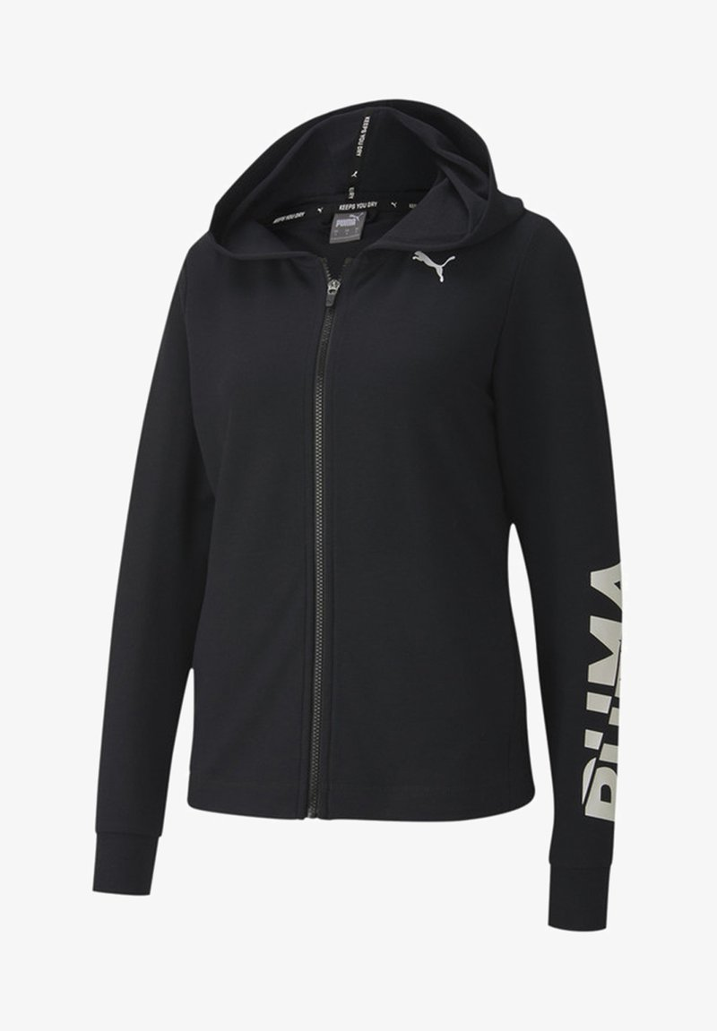 Puma - veste en sweat zippée - black
