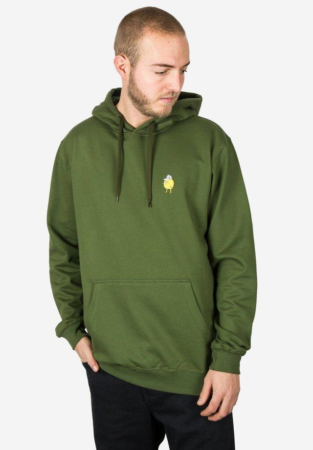 Felpa con cappuccio - green