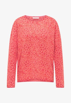 Sweatshirt - print heart red