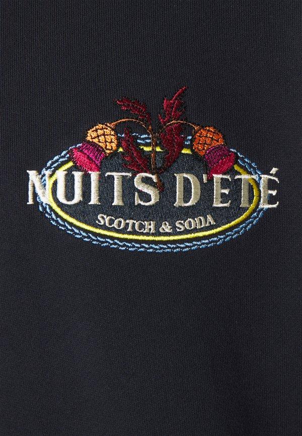 Scotch & Soda FELPA LOGO CREWNECK - Bluza - night/granatowy Odzież Męska DCDE
