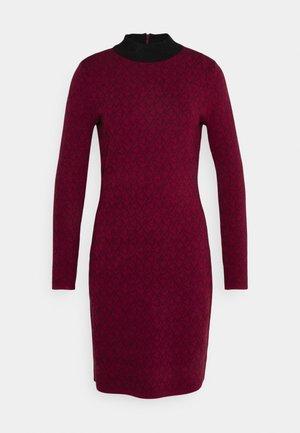 BOLD DRESS - Jumper dress - dark ruby