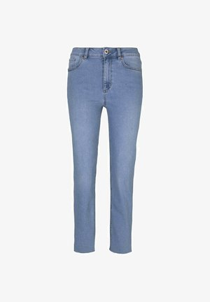 Straight leg jeans - light stone wash denim